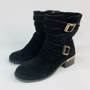 Vince Camuto Webey Suede Moto Boots